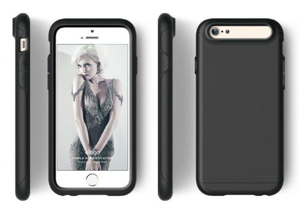 Capinha-iPhone-6-Capinha-iPhone-6S-Capa-iPhone-acessórios-smartphone-troce-tela-troca-de-bateria-reparo-iphone-reparo-ipad-reparo-imac-serviços-celular Capinha iPhone 6/6S Elago Duro-BK