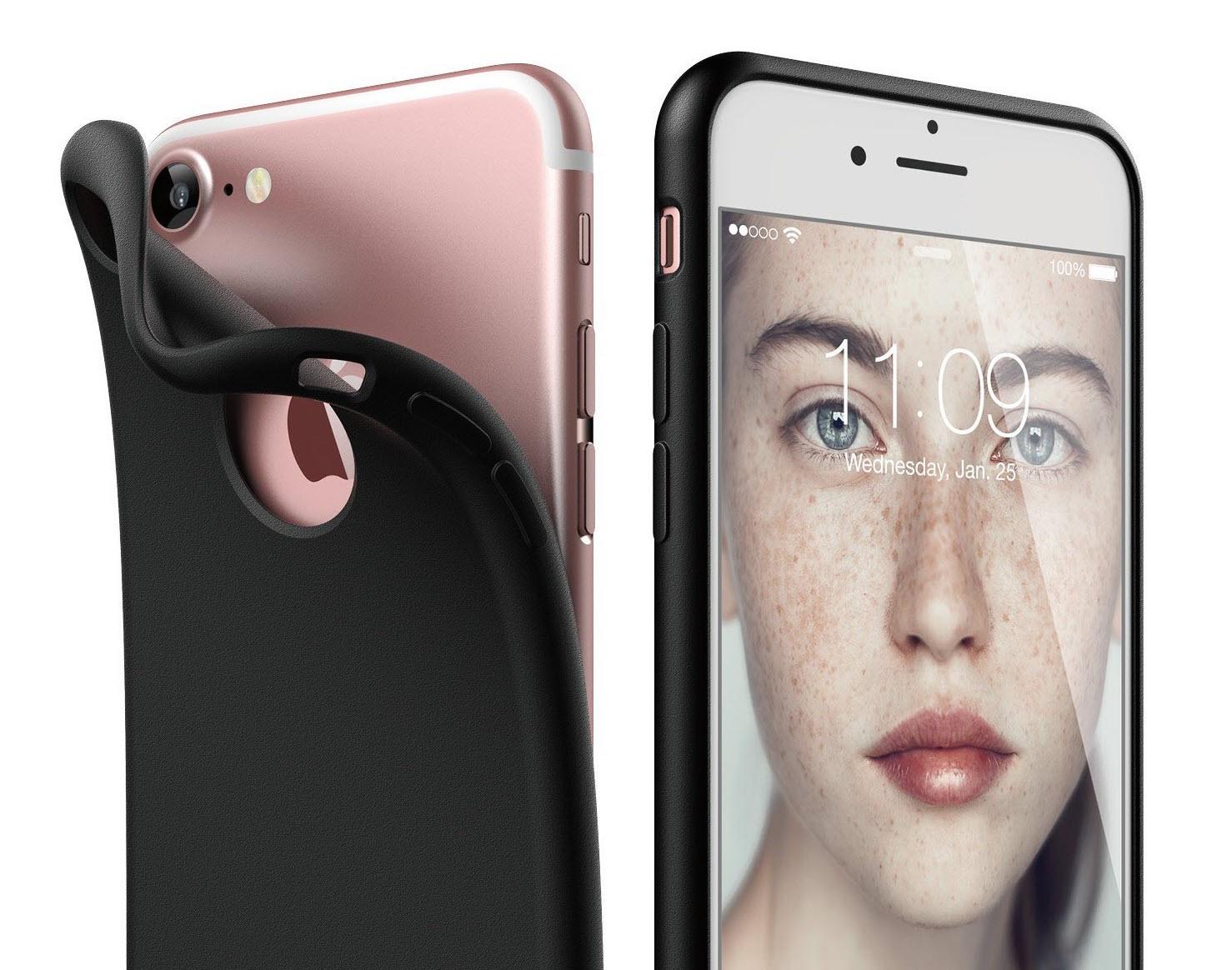 Capinha iPhone 7 Slim Soft-BK