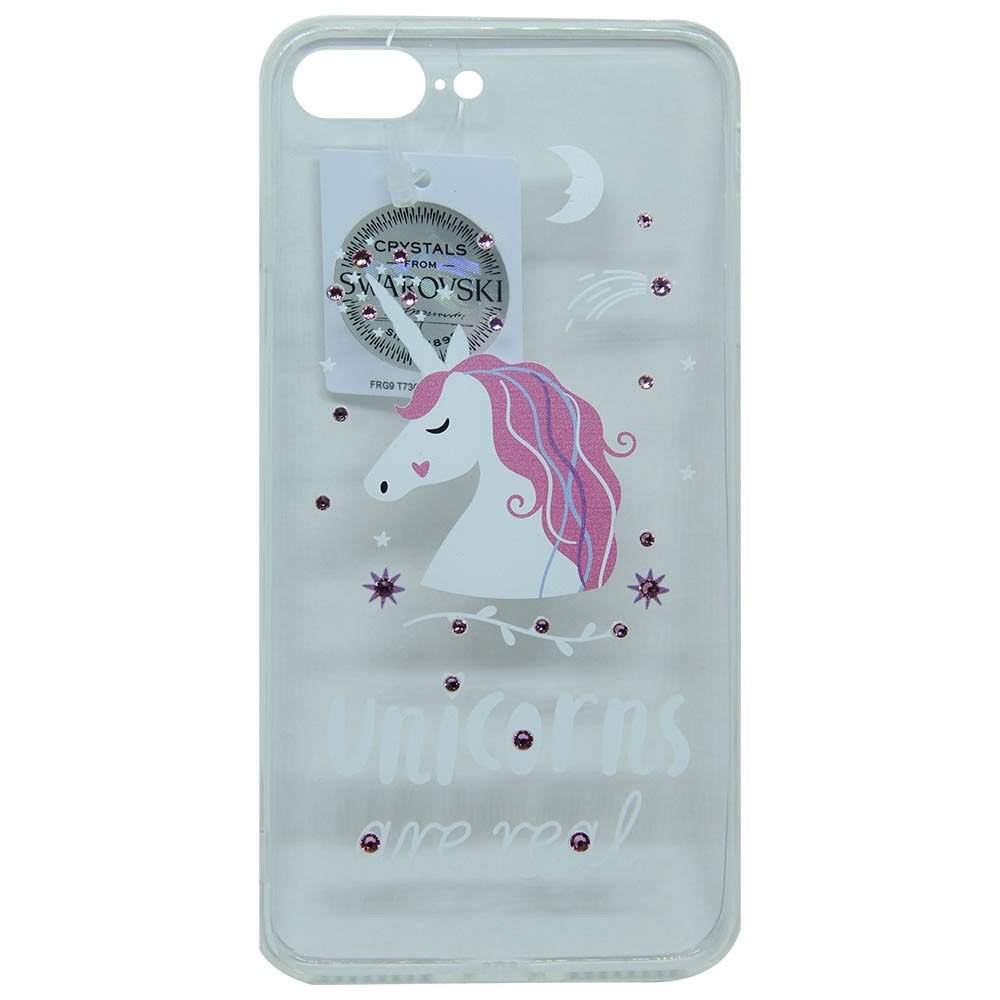 Capinha iPhone 7 Crystal Swarovski Unicornio
