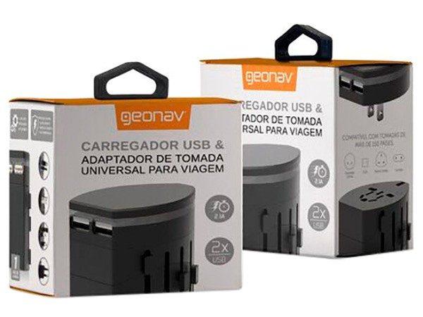 Carregador USB e Adaptador de tomada
